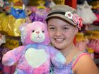 BEAR: Amelia Parry has a brain tumour, this ia an early donated present of 'Build a Bear' before her next round of chemo. Photo Patrick Woods / Sunshine Coast Daily.