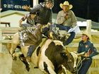 Junior bull rider Corey Neill at the Miriam Vale Rodeo. Photo Paul Braven / The Observer