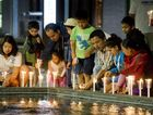The Toowoomba Nepalese community gathers for the Vigil for Nepal.