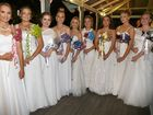 HAVING A BALL: Rebecca Hutchen, Jessica Ross, Rebekah Muller, Lily Maw, Haylee Butler, Hannah O'Leary, Nicole Mortison, Eloise Wiles and Catherine Welsh at the Debutante Ball.