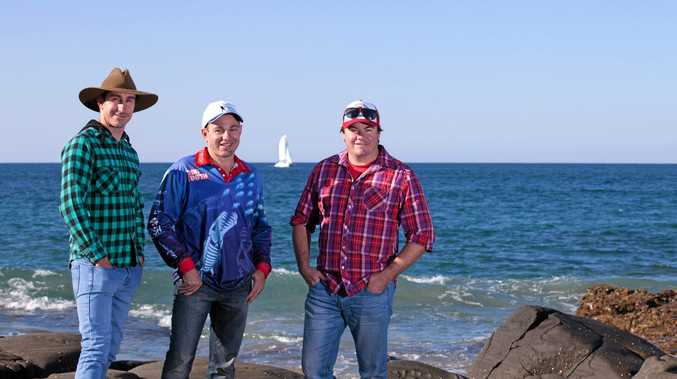 WETTING A LINE: Brothers Darren, Kerrin and Leigh Wallis star in a fishing show called My Fishing Place which will air on Channel 7mate.