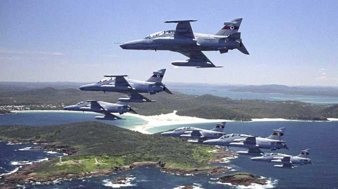 RAAF Hawk 127 training aircraft will do Anzac Day flyovers across the state on Monday.