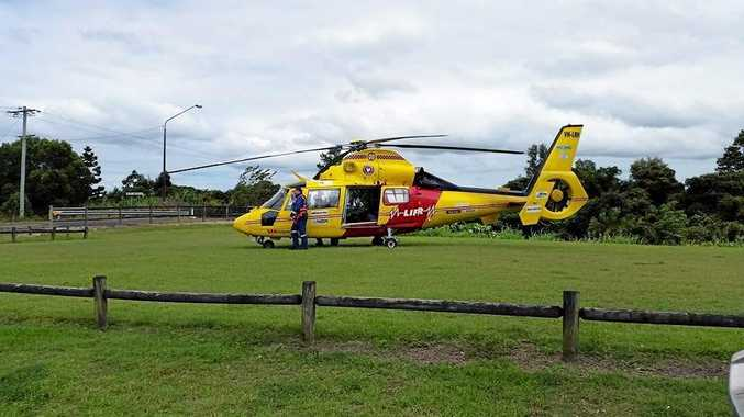 The Westpac Rescue Helicopter was tasked to a property near Bangalow on Sunday.