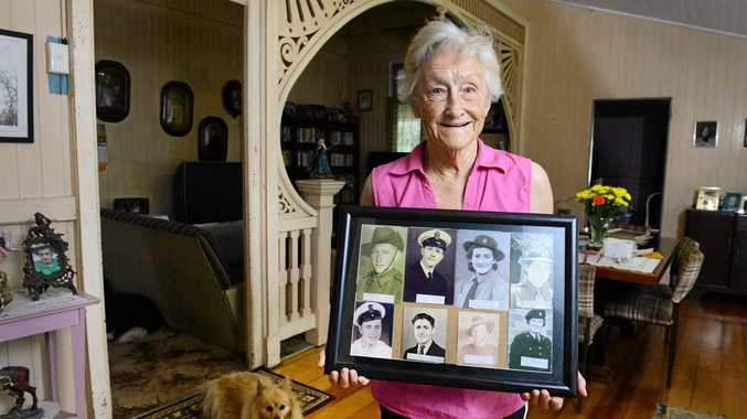 ALL TOGETHER: Marjorie Fraser of Sadliers Crossing has a strong family connection to the Australian Defence Force.