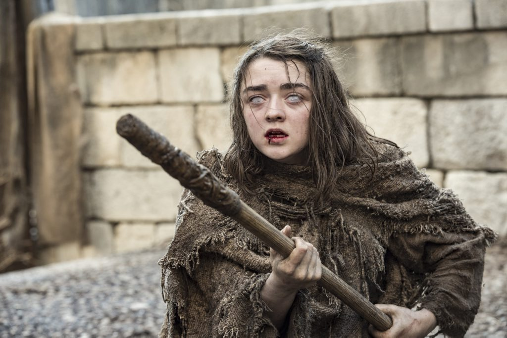 Maisie Williams in a scene from season six of the TV series Game of Thrones.
