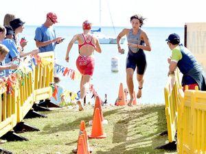 School sports triathlon action