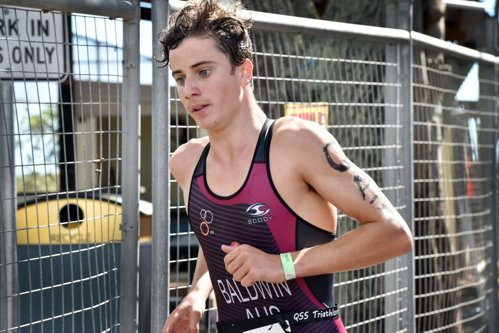 School Sport Australia 19 years and Under Triathlon Championships, Hervey Bay - relays - Juniors and All Ages - QLD Todd Baldwin. Photo: Valerie Horton / Fraser Coast Chronicle