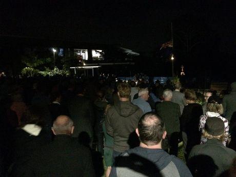Crowds gather for the Buderim Dawn Service.