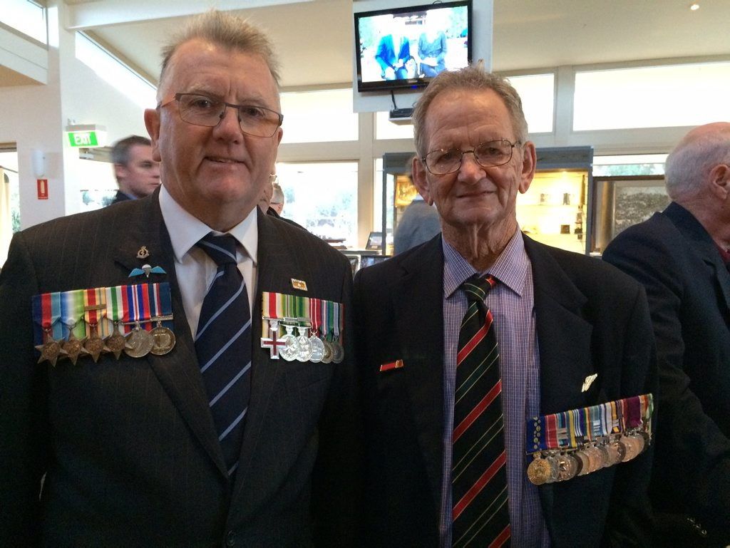 Jim Husband OAM from Coolum and Lew Macleod from Tewantin.