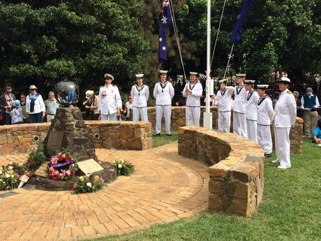 TS centaur cadets in position for the service at Maleny RSL.