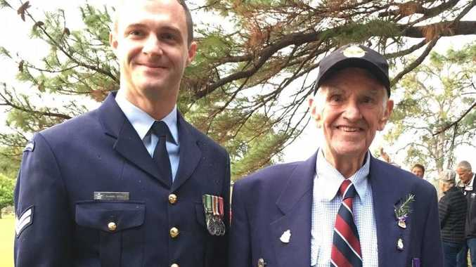 Samuel Scully (Royal Australia Air Force) and Val Spaven (formerly Royal Air Force).