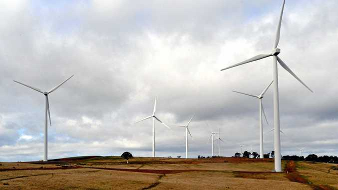 CLEAN ENERGY: The Acciona wind farm near Gunning, New South Wales. The state remains a big fan of wind farms according to a recent survey.