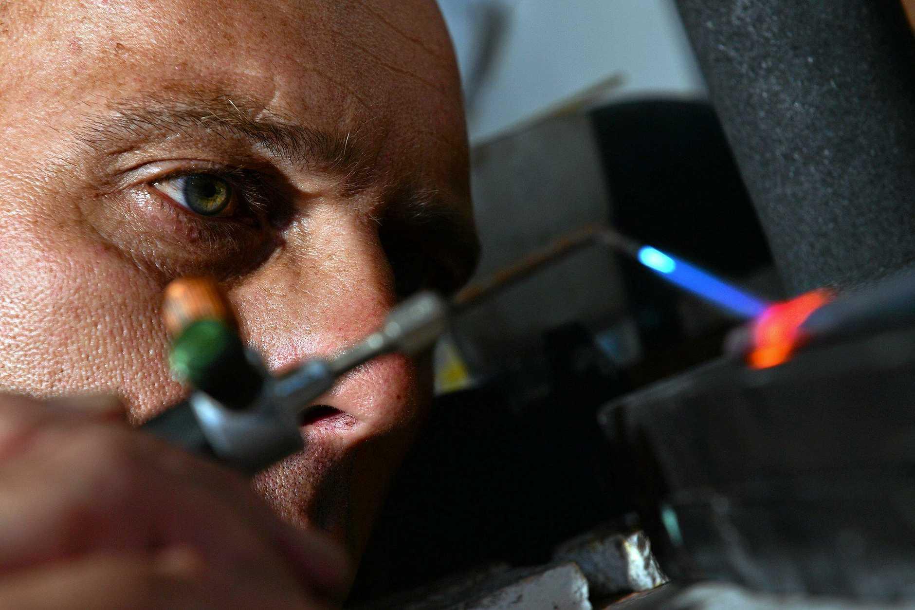 Eckart J Schillings is a goldsmith and jeweller in Peregian.  Photo: John McCutcheon / Sunshine Coast Daily