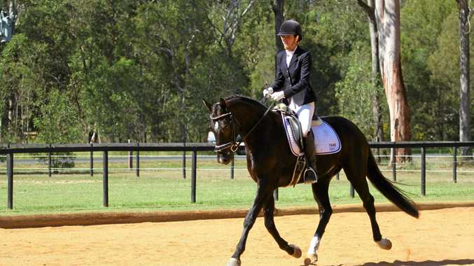 RIDING HIGH: Carla Cosgrove rides high after her success in Toowoomba and Brisbane earlier this year.