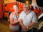 OVER AND OUT: Grant Anderson (right), learning and development officer with Clarence Valley RFS, and his wife Margaret, a volunteer with the catering unit, are retiring from the service.