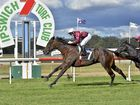 Jockey Jeff Lloyd guides Sky Heart to one of his two winning rides at Ipswich racetrack.