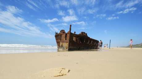 Photojournalist Kristy Muir visited Fraser Island in March for a four-wheel driving adventure. There was so much to see and do. Pictured: 75 Mile Beach - the SS Maheno. Photo Kristy Muir / Sunshine Coast Daily