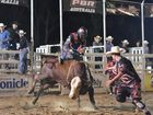 PBR Bull Riding event at the Seafront Oval, Hervey Bay. Dave Kennedy on Nek Minut. Photo: Alistair Brightman / Fraser Coast Chronicle