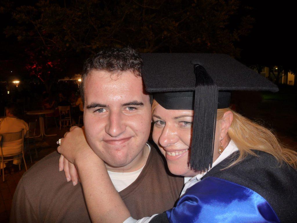 Brad Garard and his mum
