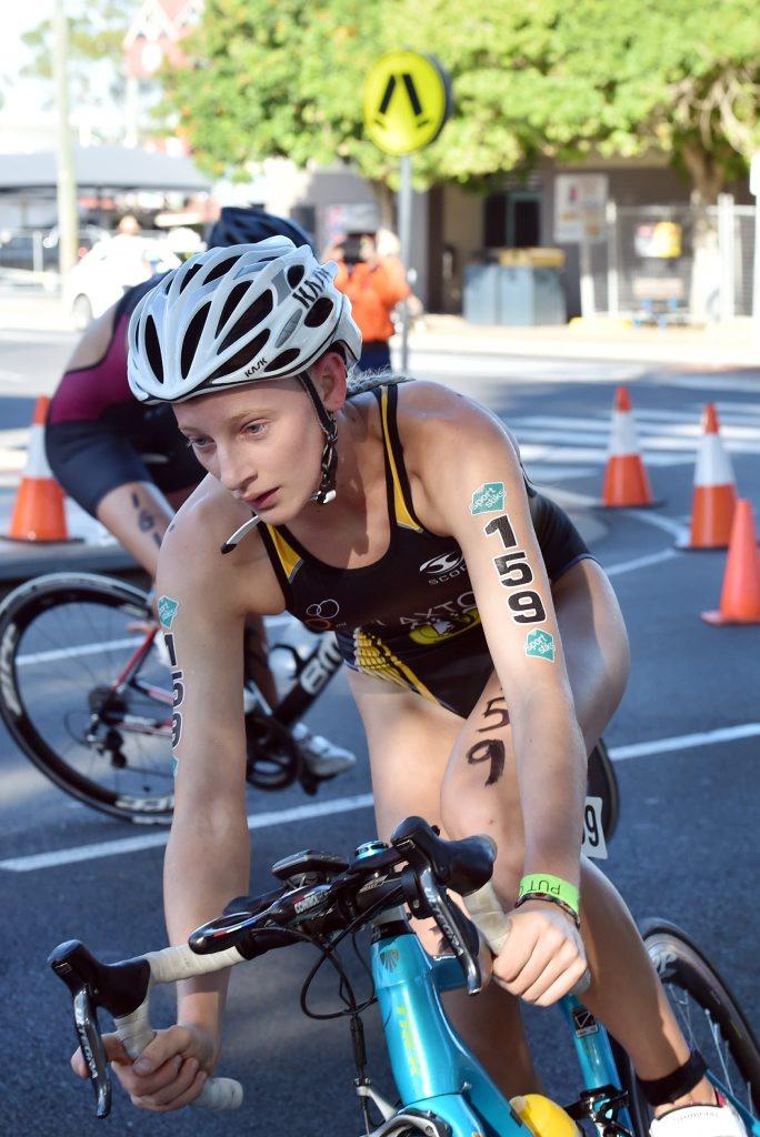 School Sport Australia 19 years and under Triathlon Championships, Hervey Bay - Senior Female cycle, Jessica Claxton. Photo: Valerie Horton / Fraser Coast Chronicle
