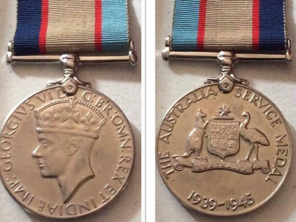 Lost war medal returned.