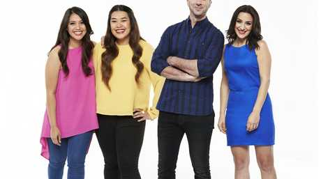 The 2016 My Kitchen Rules final teams Tasia and Gracia and Carmine and Lauren.