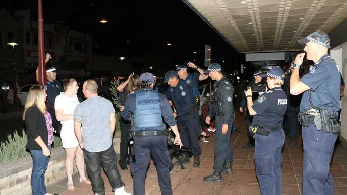 Police conduct searches of licensed venues in the Toowoomba CBD as part of Operation Oscar Seaspray.