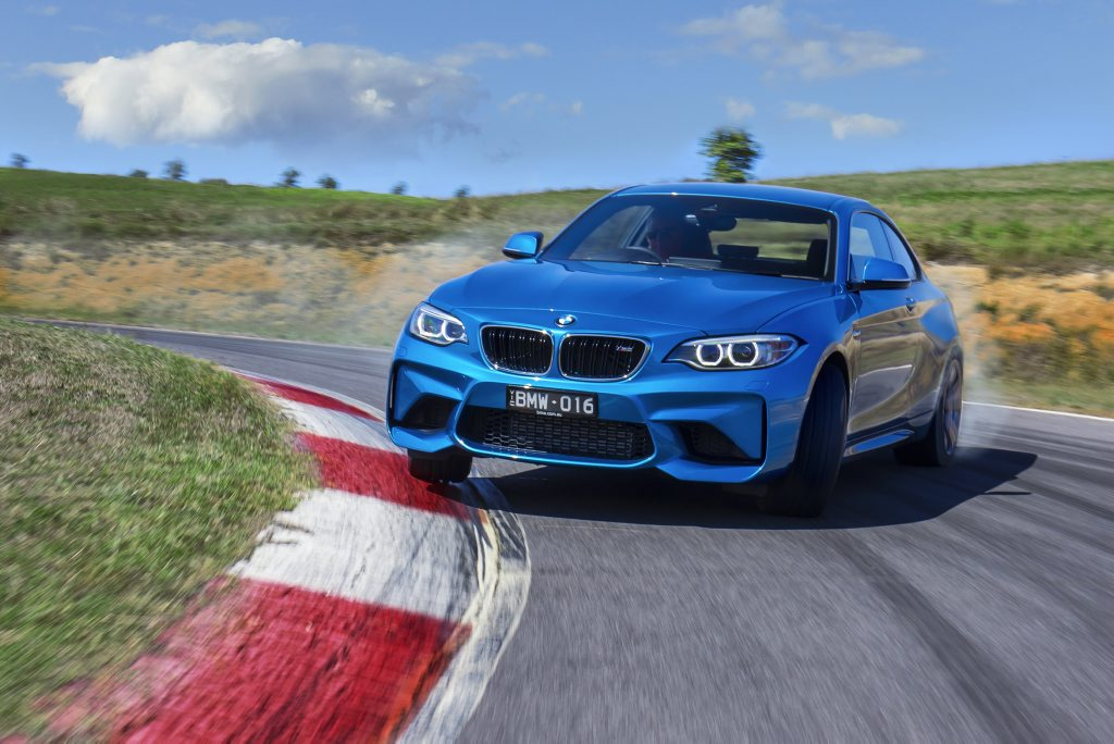 ARRIVING SIDEWAYS: BMW's M2 offers a deeply desirable premium performance weapon for under $100k...and it's just as much fun as it looks.