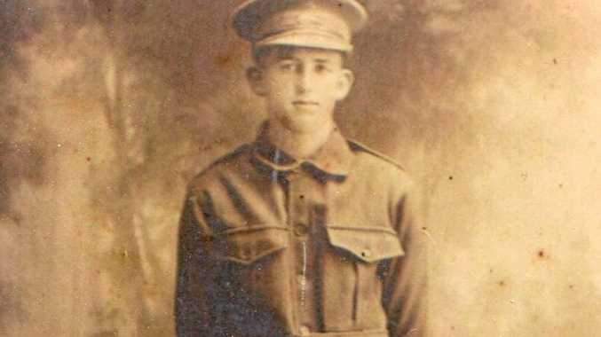 GONE BUT NOT FORGOTTEN: Uriel Anderson Milligan was 16 years old when he enlisted in the army in the First World War.