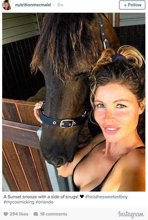 Nicola Robinson with her horse.