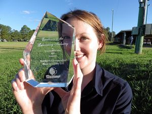 Jessica's industry reward for excellence in Casino laboratory