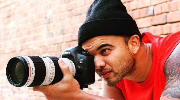 Guy Sebastian behind the lens.