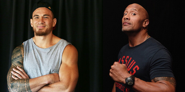 Sonny Bill Williams and The Rock.