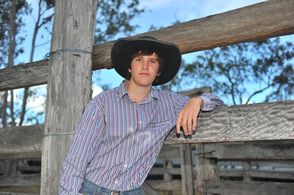 Last time Corey Neill competed in Miriam Vale he won the steer ride.