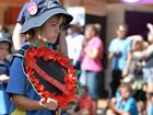 Anzac Day service march on Mary Street, Gympie. Arpil 25, 2016. Photo Patrick Woods / Gympie Times.