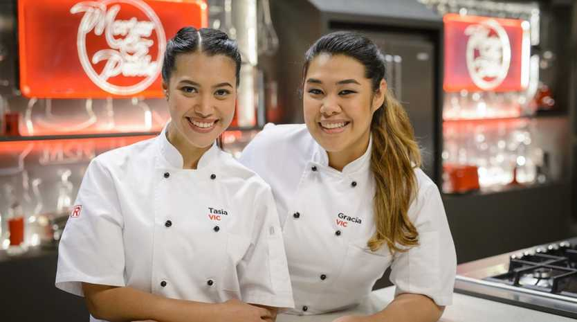 My Kitchen Rules winners Tasia and Gracia Seger.