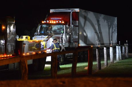 The Wickham Freightlines truck sustained significant damage in the crash.