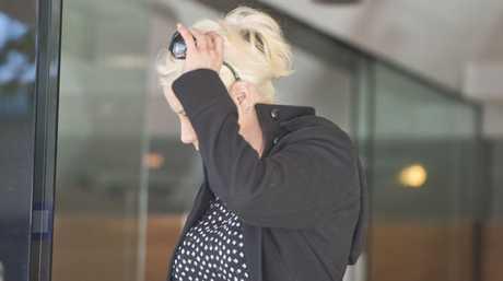 Elisha Thorp leaving Toowoomba Court House. Wednesday 27 Apr , 2016.