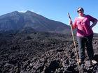 Reporter Rae Wilson after the 4km hike up Pacaya Volcano near Antigua in Guatemala.