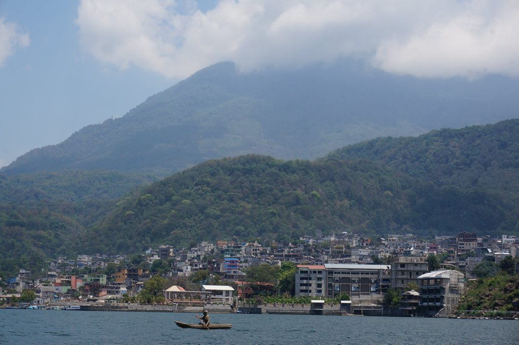 Lake Atitlan in Guatemala has lots of pretty towns along its shores.