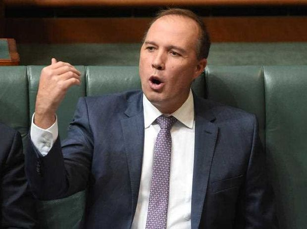 Minister for Immigration Peter Dutton during Question Time at Parliament House in Canberra on Monday, April 18, 2016.