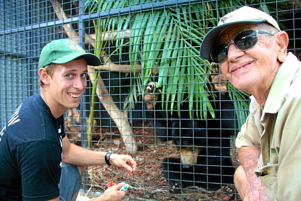 Bob Irwin with Jarrod Schenk for Wildlife HQ