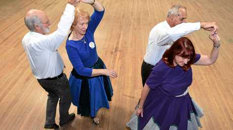 Square dancing at Lismore Heights Bowls Club each week.