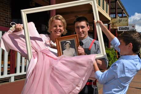 Pricilla Dollery, Josh Lock, and Charlie Turner promote the latest exhibition at Alstonville's Crawford House, Gowns, Veils, Vows and Ties: The Rituals That Bind.