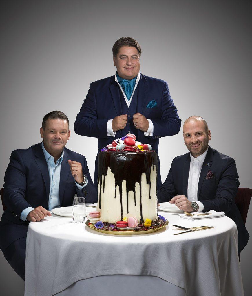 Gary Mehigan, Matt Preston and George Calombaris host the TV series MasterChef Australia.