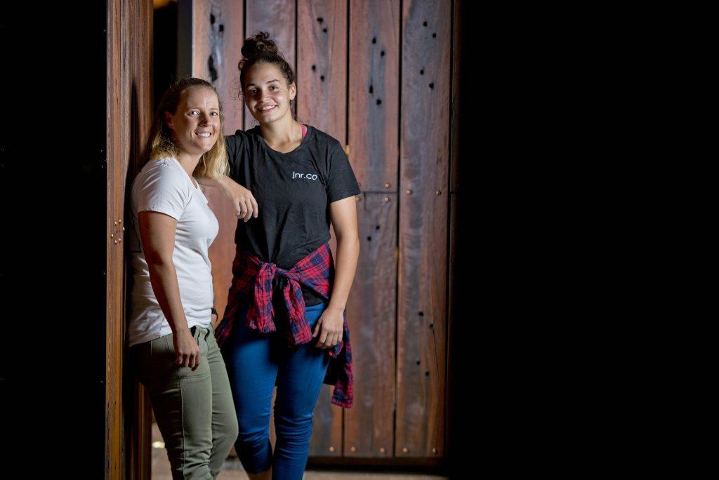 Gladstone teens Tahnee Guinea and Kym Ellis start savvy new kids clothing company.