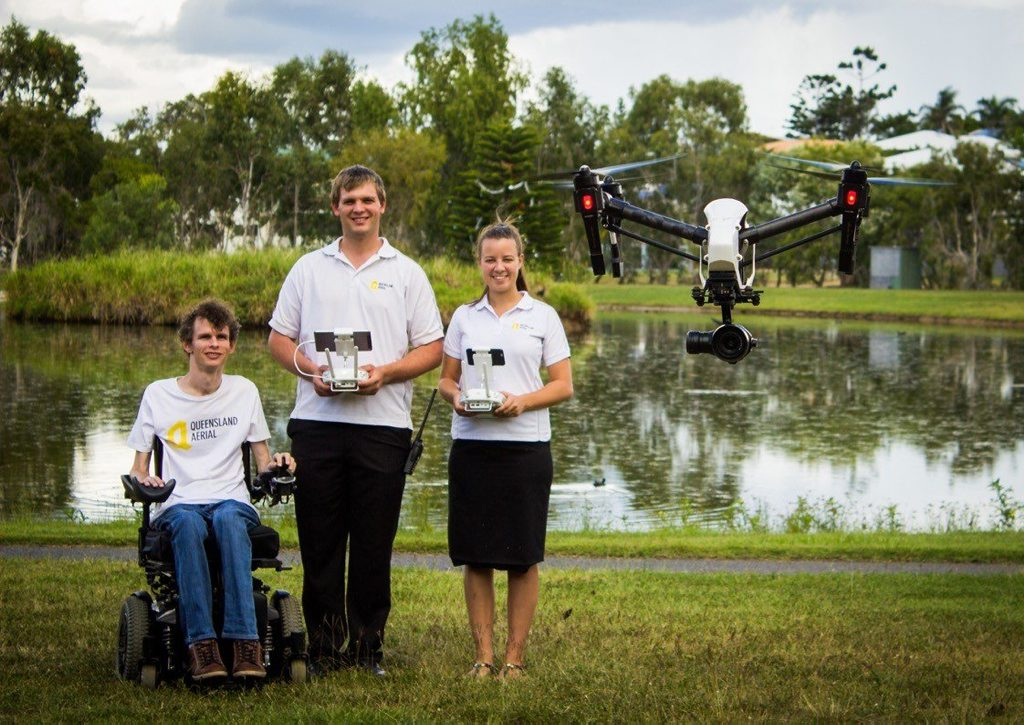 Darren, Cory and Sarah Jeacocke from Queensland Aerial.