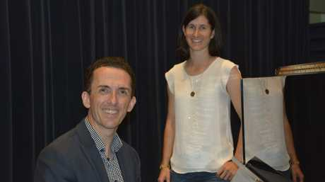 Auditions for Opera Q's Project Rossini. Jason Barry-Smith runs through a song with Kate Wolyncevic from Forest Hill.