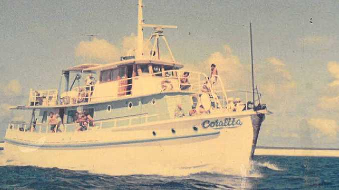 ON A MISSION: Wally Muller's fishing boat, the Coralita was used for fishing charters, island trips and taking scuba divers out to the reefs. Captain Muller was an admirer of the navigational skills of Matthew Flinders, and followed in his wake aboard the three vessels he owned.