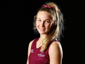 Matika Laycock stars for Queensland U19s netball side